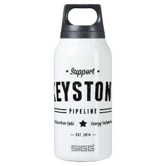 Support The Keystone Pipeline 10 Oz Insulated SIGG Thermos Water Bottle