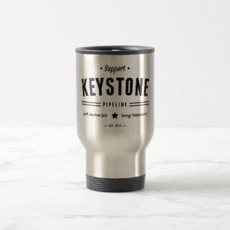 Support The Keystone Pipeline 15 Oz Stainless Steel Travel Mug