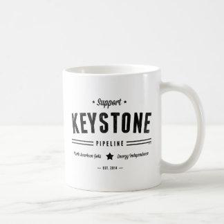 Support The Keystone Pipeline Classic White Coffee Mug