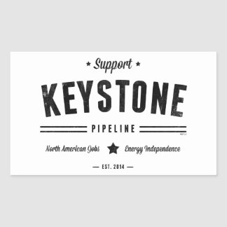 Support The Keystone Pipeline Rectangular Sticker
