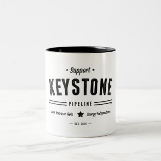 Support The Keystone Pipeline Two-Tone Coffee Mug