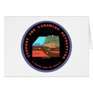 Support The Laramide Revolution Geological Humor Greeting Cards