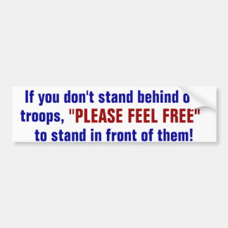 support the military bumper stickers