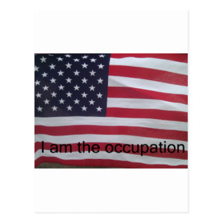 Support the occupation by showing it! postcard
