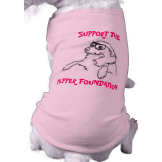 SUPPORT THE PEPPER FOUNDATION DOG RIBBED TSHIRTS DOGGIE TSHIRT