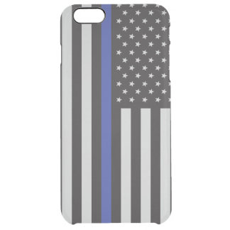 Support the Police Thin Blue Line American Clear iPhone 6 Plus Case