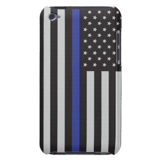 Support the Police Thin Blue Line American Flag Barely There iPod Case