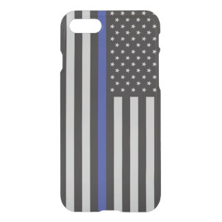 Support the Police Thin Blue Line American Flag iPhone 7 Case