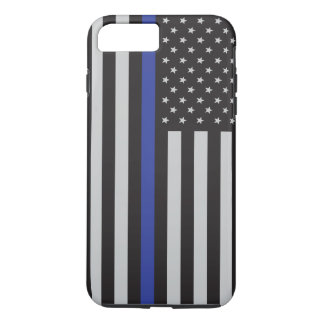 Support the Police Thin Blue Line American Flag iPhone 8 Plus/7 Plus Case