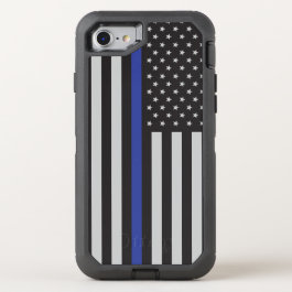 Support the Police Thin Blue Line American Flag OtterBox Defender iPhone 7 Case