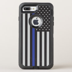 Support The Police Thin Blue Line American Flag Otterbox Defender Iphone 7 Plus Case at Zazzle