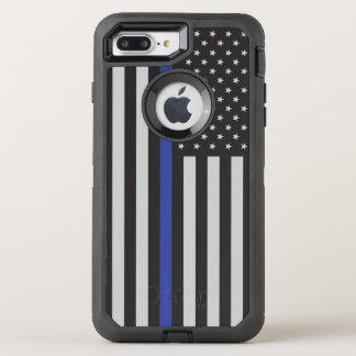 Support the Police Thin Blue Line American Flag OtterBox Defender iPhone 7 Plus Case