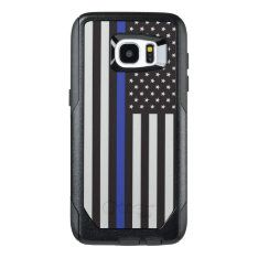 Support the Police Thin Blue Line American Flag OtterBox Samsung Galaxy S7 Edge Case at Zazzle