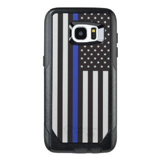 Support the Police Thin Blue Line American Flag OtterBox Samsung Galaxy S7 Edge Case