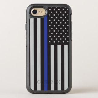 Support the Police Thin Blue Line American Flag OtterBox Symmetry iPhone 7 Case