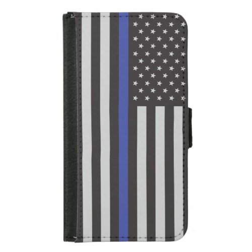 Support the Police Thin Blue Line American Flag Phone Case