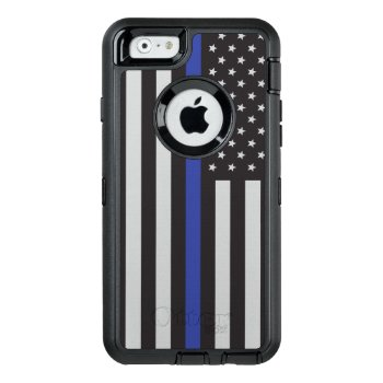 Support The Police Thin Blue Line American Otterbox Defender Iphone Case by American_Police at Zazzle