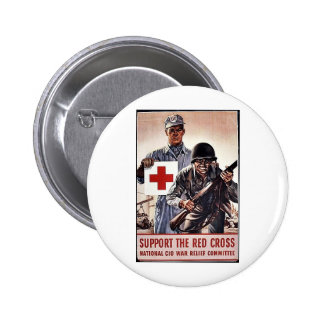Support The Red Cross Button