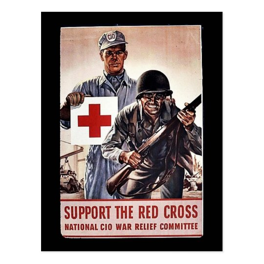 Support The Red Cross Postcard