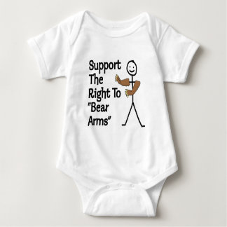 Support The Right To Bear Arms Baby Bodysuit