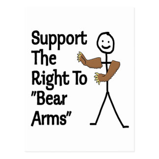 Support The Right To Bear Arms Postcard