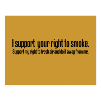 Support the right to fresh air postcard