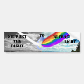 Support the right to refracted light bump sticker car bumper sticker