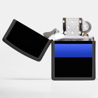 Support the Thin Blue Line Zippo Lighter