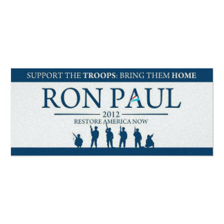 Support the Troops Bring Them Home Ron Paul 2012 Card