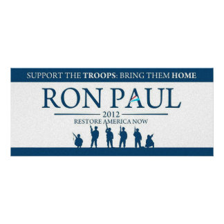 Support the Troops Bring Them Home Ron Paul 2012 Custom Announcements