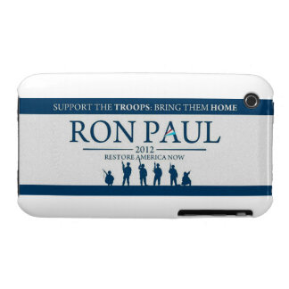 Support the Troops Bring Them Home Ron Paul 2012 iPhone 3 Cover