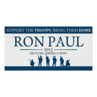Support the Troops Bring Them Home Ron Paul 2012 Photo Cards