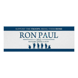 Support the Troops Bring Them Home Ron Paul 2012 Photograph