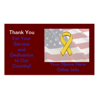 Support The Troops Card Double-Sided Standard Business Cards (Pack Of 100)
