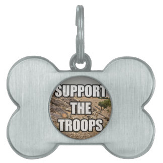 Support the Troops Pet ID Tag