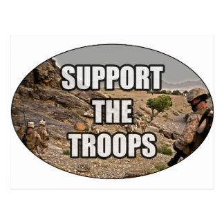 Support the Troops Postcard