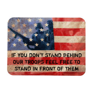 Support the Troops Rectangular Photo Magnet
