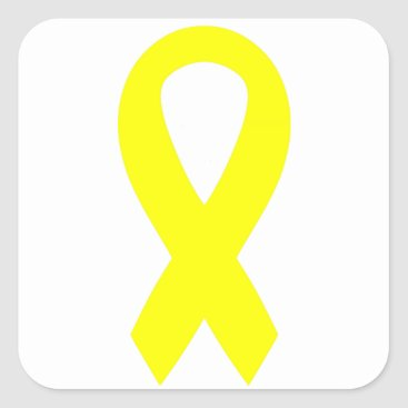 Support the Troops Ribbon Square Sticker