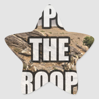 Support the Troops Star Sticker