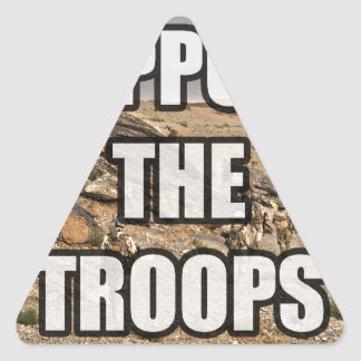 Support the Troops Triangle Sticker