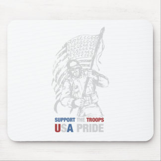Support The Troops - USA American Pride Mouse Pad