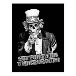 Support the Underground music scene guys or girls Postcard