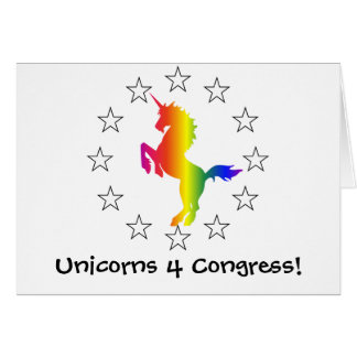 Support the Unicorn Party: Unicorns for Congress Card