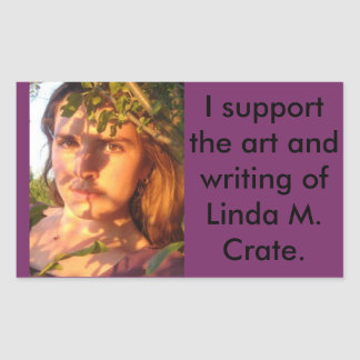 support the writing and art of L. M. Crate Rectangle Stickers
