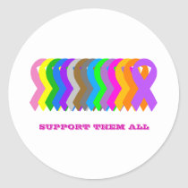 Support them all classic round sticker