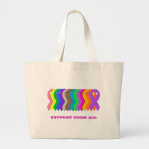 Support them all large tote bag