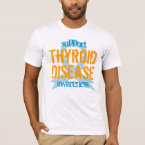 support Thyroid Disease awareness ribbon T-Shirt
