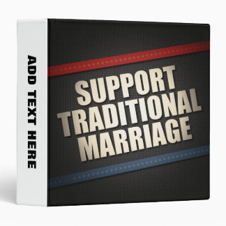 Support Traditional Marriage 3 Ring Binder
