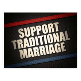 Support Traditional Marriage Postcard
