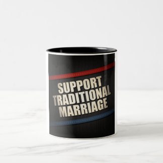 Support Traditional Marriage Two-Tone Coffee Mug